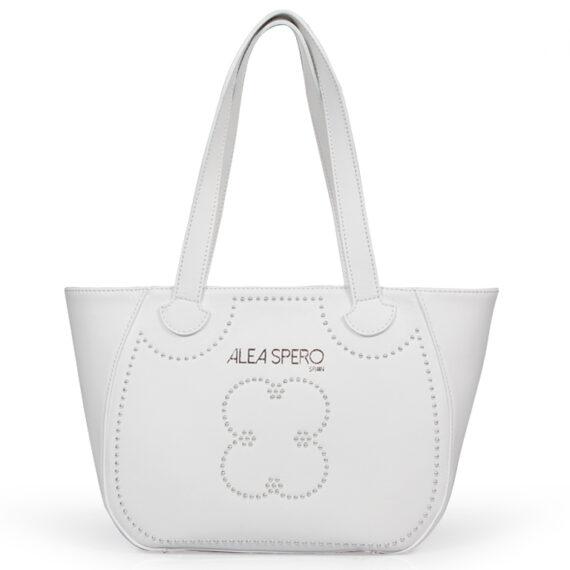 bolso aleaspero eibsee steel piel blanco