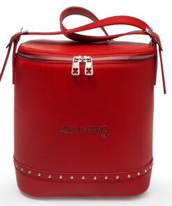 bolso aleaspero covadonga steel piel rojo