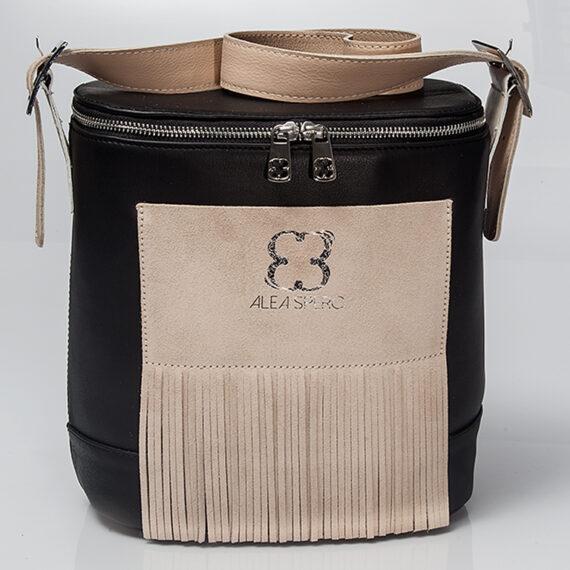 bolso aleaspero covadonga stamp piel negro