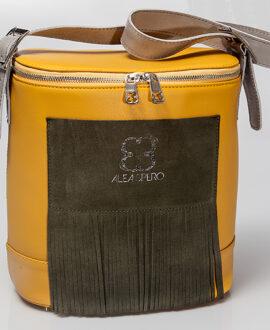 bolso aleaspero covadonga stamp piel mostaza