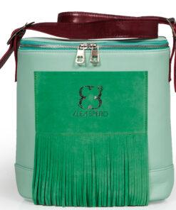 bolso aleaspero covadonga stamp piel verde