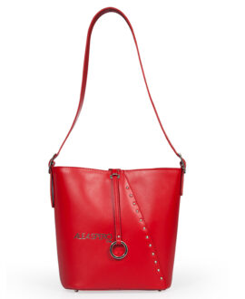 bolso aleaspero pangong steel piel rojo