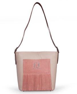 bolso aleaspero pangong stamp piel rosa