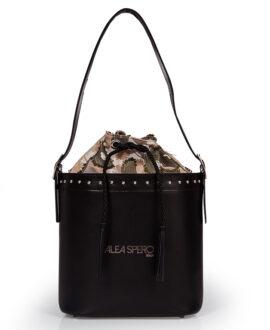 bolso aleaspero tahoe steel piel negro
