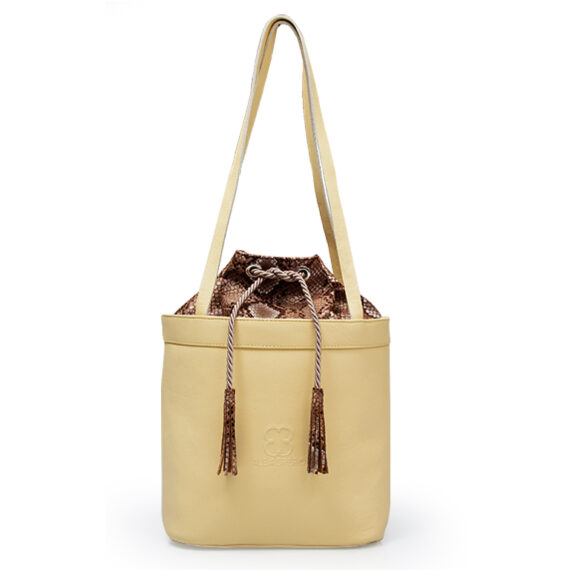 bolso aleaspero tahoe natural piel amarillo