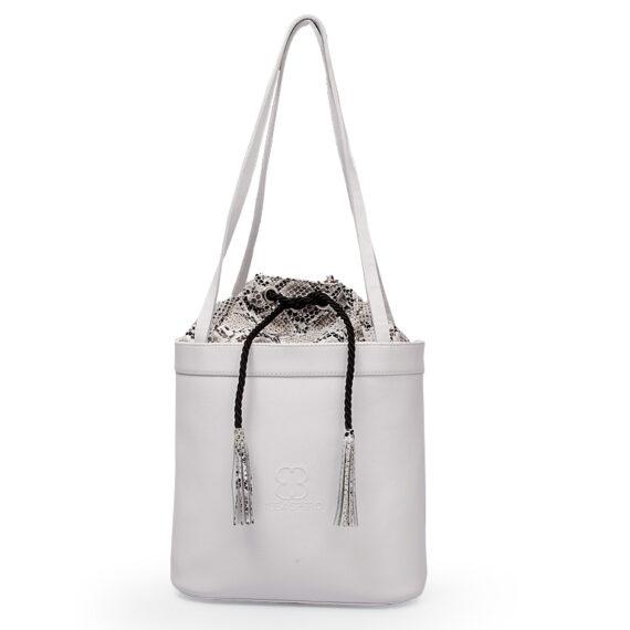 bolso aleaspero tahoe natural piel blanco