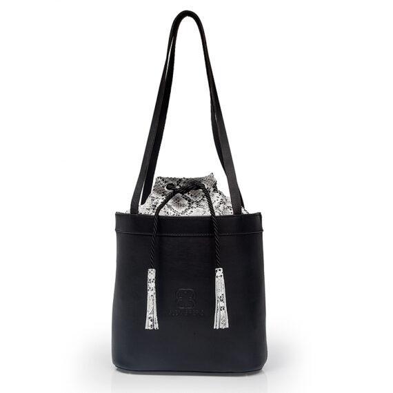 bolso aleaspero tahoe natural piel negro