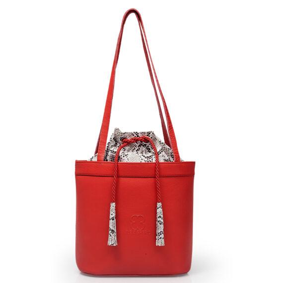 bolso aleaspero tahoe natural piel rojo