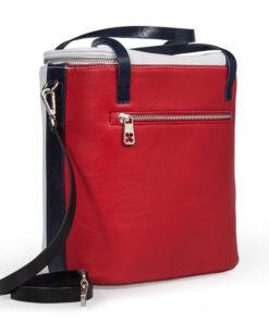 bolso aleaspero covadonga color piel blanco rojo tras