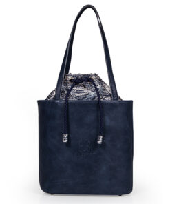 bolso aleaspero tahoe reptil piel azul