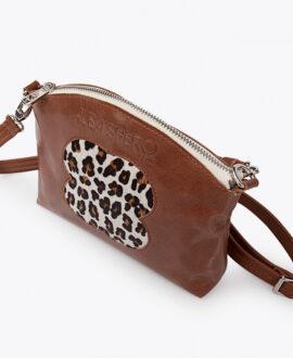 bolso alena leopardo piel marron detalle