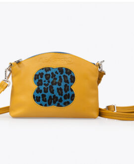 bolso alena leopardo piel mostaza