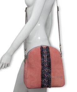 bolso mochila aleaspero eyre banda piel rosa hombro