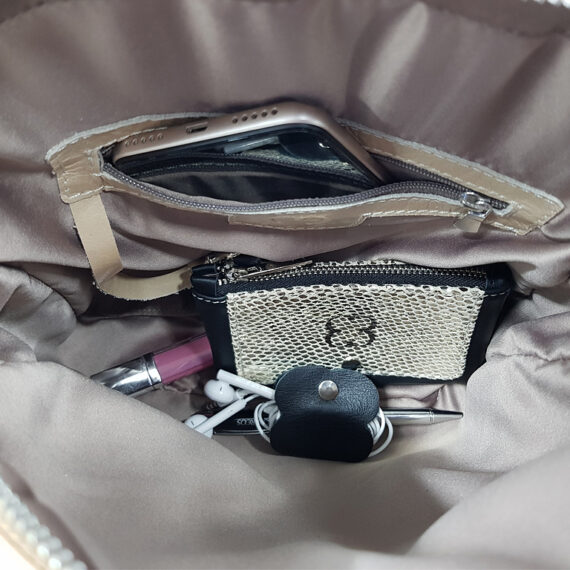 bolso mochila aleaspero ayre piel interior tras