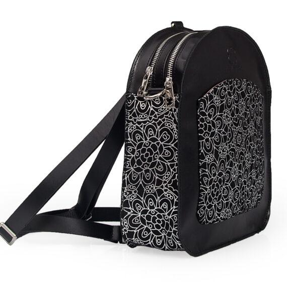 bolso mochila aleaspero ayre prunus piel negro