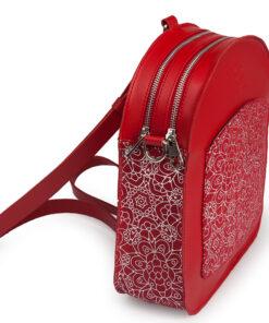 bolso mochila aleaspero ayre prunus piel rojo