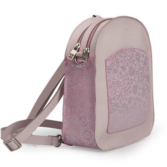 bolso mochila aleaspero ayre prunus piel rosa