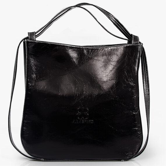 bolso mochila aleaspero nyasa negro piel natural
