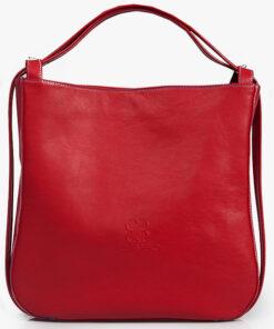 bolso mochila aleaspero nyasa rojo piel natural
