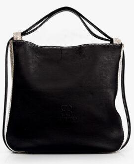 bolso mochila aleaspero nyasa serpiente negro frontal