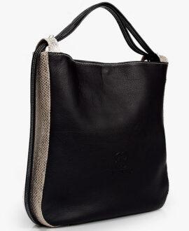 bolso mochila aleaspero nyasa serpiente negro