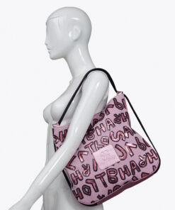 bolso mochila aleaspero nyasa lentejuelas rosa piel natural hombro