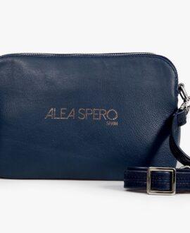 bolso aleaspero luda smooth azul piel natural