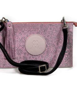 cartera aleaspero zulia stamp rosa