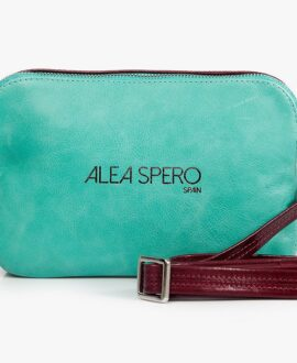 bolso aleaspero luda smooth verde piel natural
