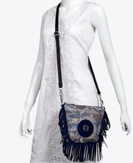 bolso riñonera aleaspero sahara galaxy azul hombro