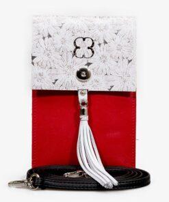 cartera yaren verticale piel natural rojo