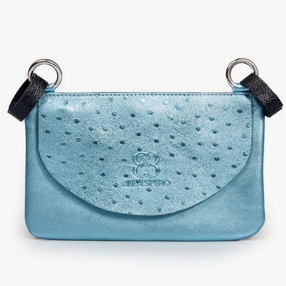 bolso riñonera aleaspero asia metal azul