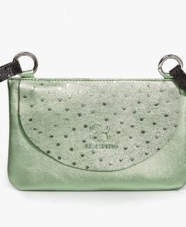 bolso riñonera aleaspero asia metal verde
