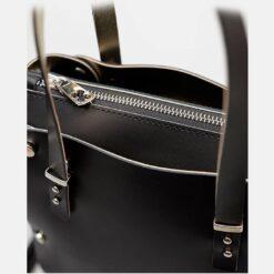 detalle cremallera bolso piel negro