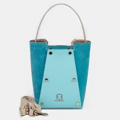 Bolso shopper mini turquesa
